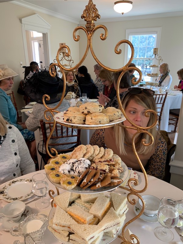 three-tiered tray at Afternoon Tea at Donaldson-Bannister Farm in Dunwoody, Georgia