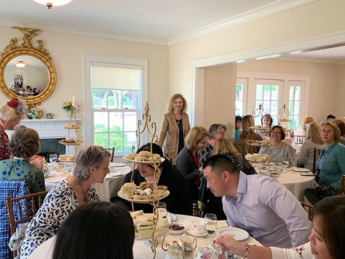 Judith McLoughlin at Afternoon Tea at Donaldson-Bannister Farm in Dunwoody, Georgia