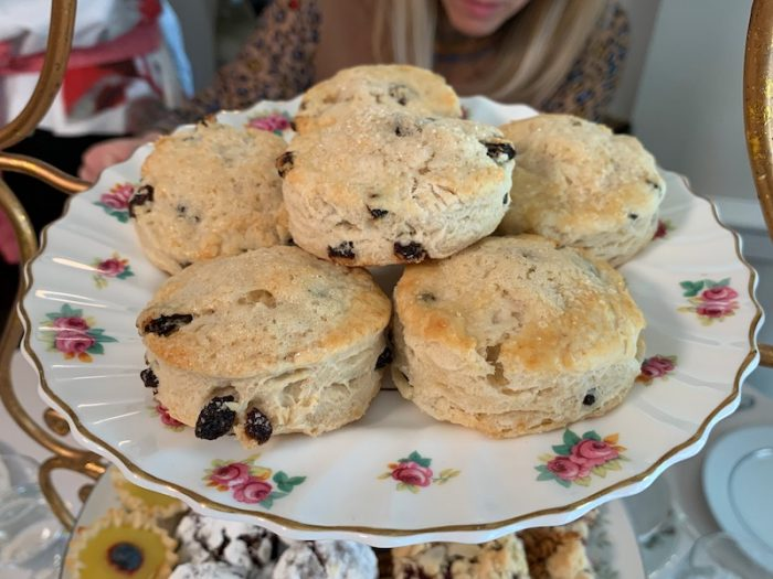 scones at Afternoon Tea at Donaldson-Bannister Farm in Dunwoody, Georgia