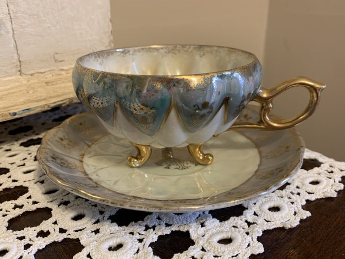 Angela's favorite teacup and saucer thrift store find