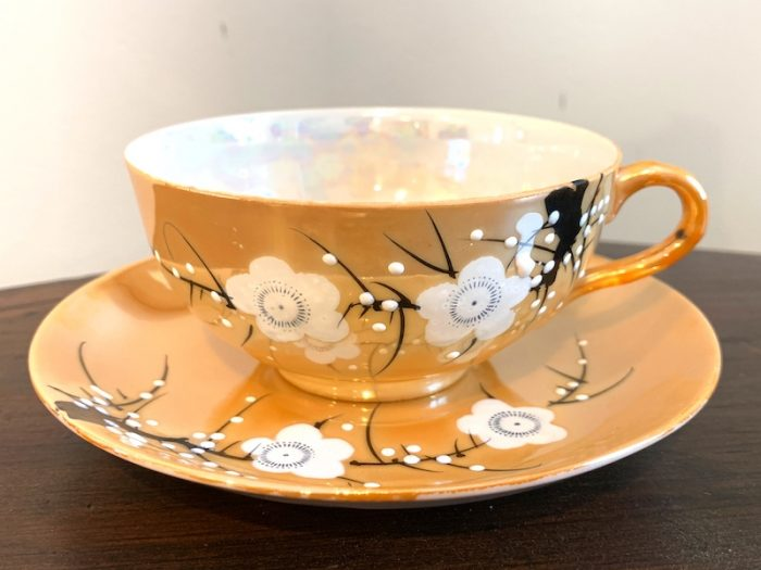 Angela's inherited family heirloom teacup and saucer