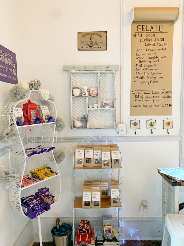 front gift shop at Afternoon tea at The Olde English Creamery in historic Pensacola, FL