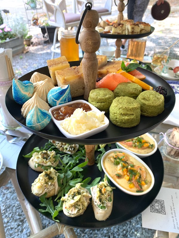 summer seasonal afternoon tea at outdoor afternoon tea at Ivy Tea House in Norcross, GA