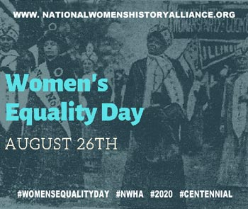 women's equality day graphic by national women's history alliance