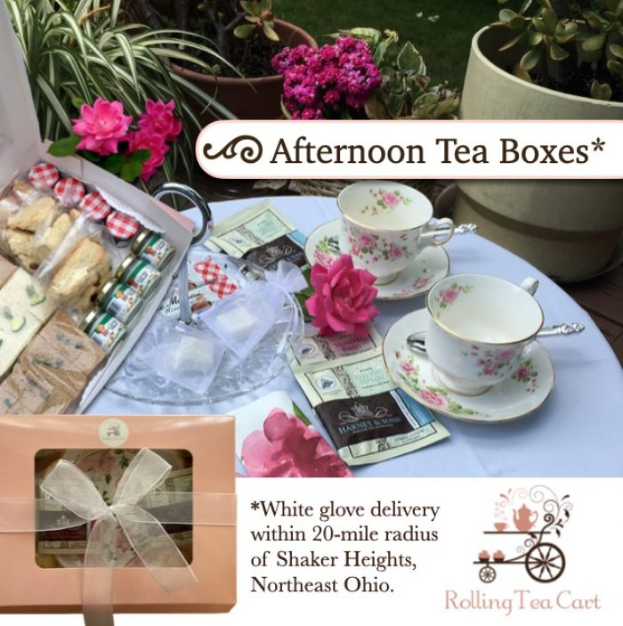 Rolling Tea Cart's Afternoon Tea Boxes advertisement