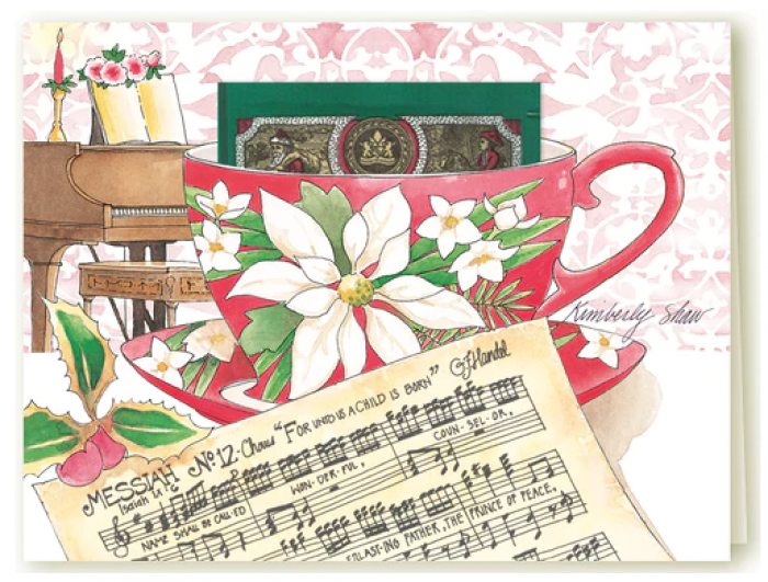 Kimberly Shaw's Teacup Cards, Christmas