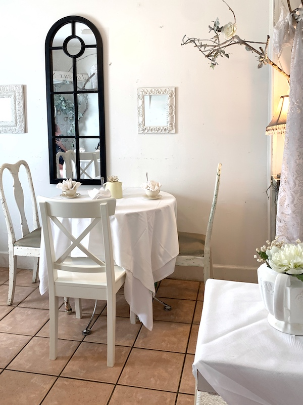 tea table at Ashes' Boutique and Tea Room