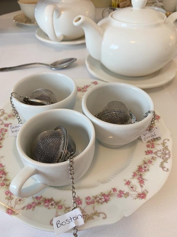 tea flight at Ashes' Boutique and Tea Garden