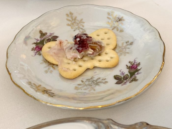 amuse bouche at afternoon tea at Ashes' Boutique and Tea Garden
