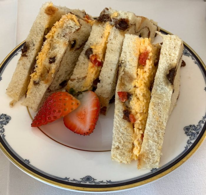 pimiento tea sandwiches at amuse bouche at afternoon tea at Ashes' Boutique and Tea Garden
