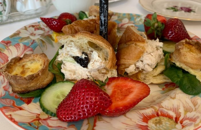 savories at amuse bouche at afternoon tea at Ashes' Boutique and Tea Garden