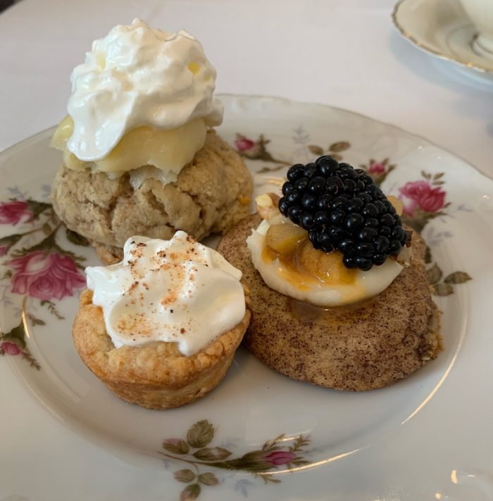 desserts at amuse bouche at afternoon tea at Ashes' Boutique and Tea Garden