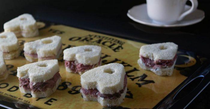 Planchette tea sandwiches
