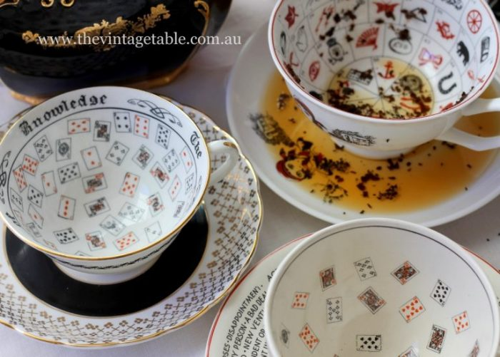 The Vintage Table's tasseography cups