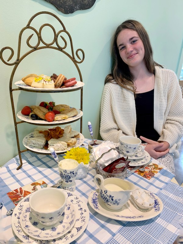 getting ready for a delicious afternoon tea at Dreamcakes Cafe in Hoover, AL