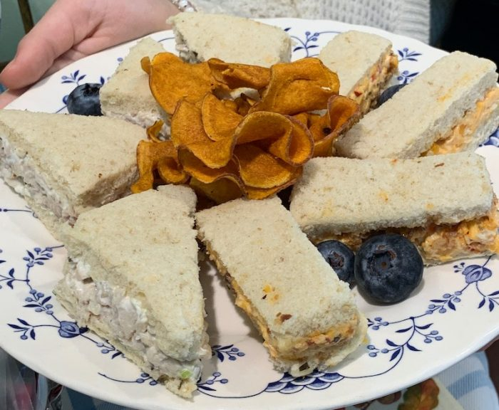finger sandwiches at Dreamcakes Cafe in Hoover, AL for afternoon tea