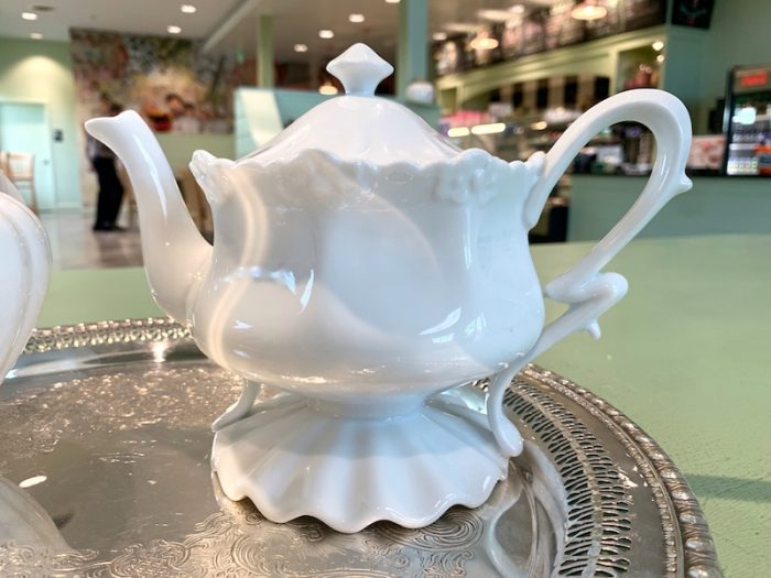 favorite teapot at Dreamcakes Cafe in Hoover, AL for afternoon tea