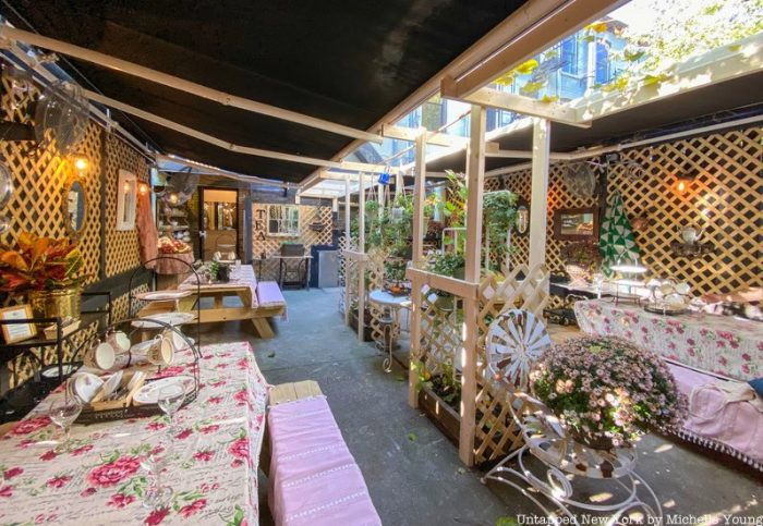 Brooklyn High Low garden patio for afternoon tea