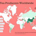 Destination Tea's map of top tea producing countries