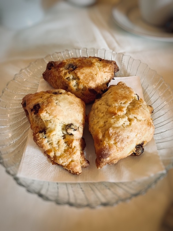scones served The Cottage on Main for holiday tea in Duluth, GA