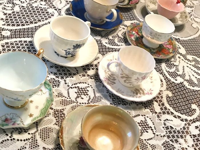teacups for afternoon tea party