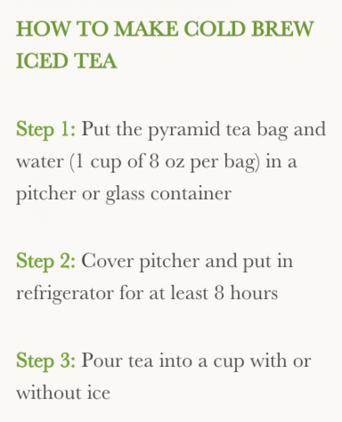 The Wellness Tea Cold Brew Tips