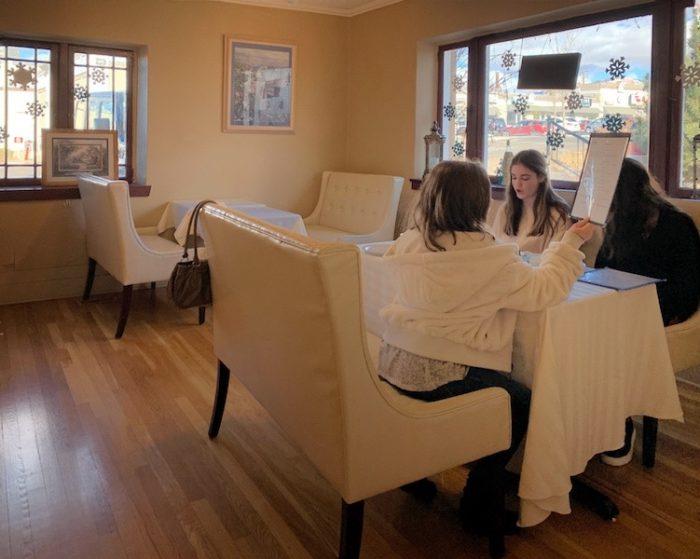 interior Afternoon Tea at Auntie Rae's Dessert Island in Utah