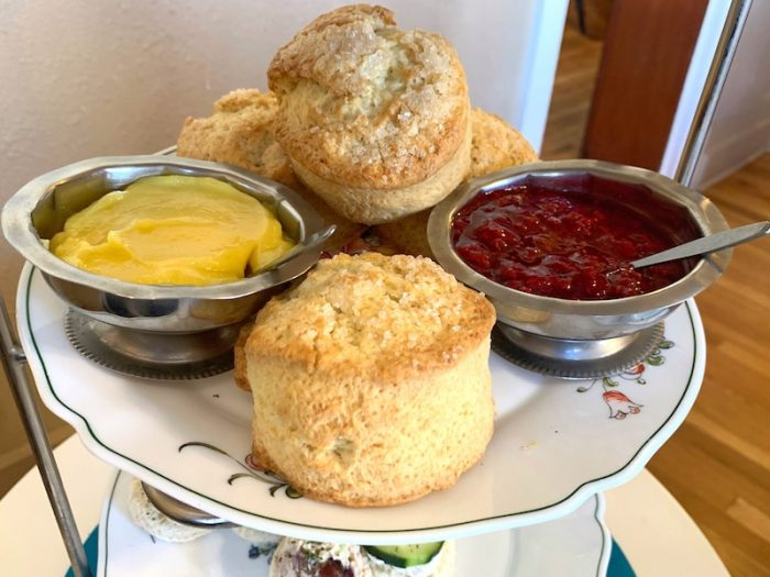 scones and spreads at at Afternoon Tea at Auntie Rae's Dessert Island in Utah