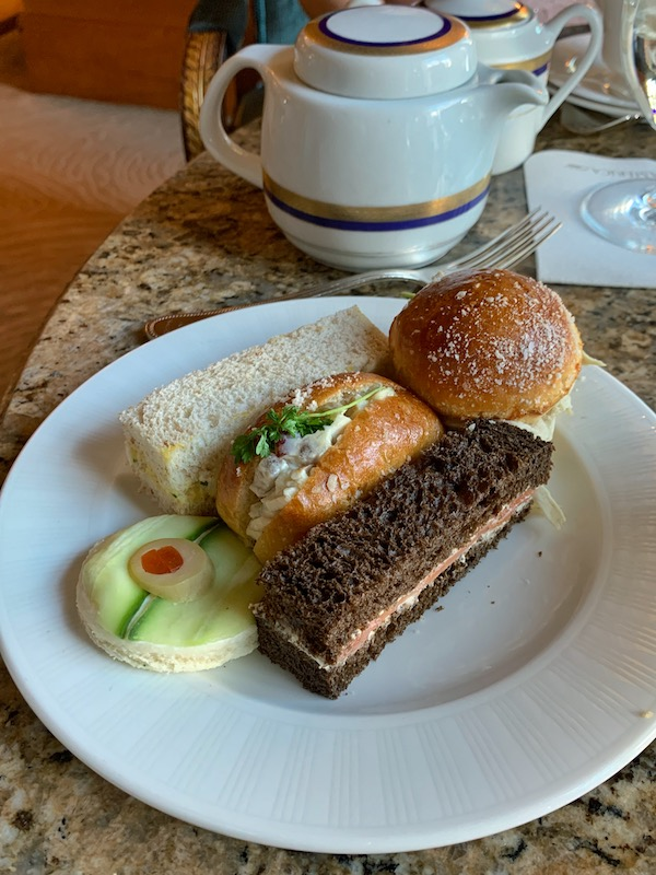 tea sandwiches at afternoon tea at Grand America Hotel in Salt Lake City