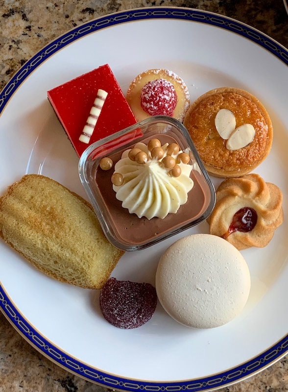 desserts at afternoon tea at Grand America Hotel in Salt Lake City