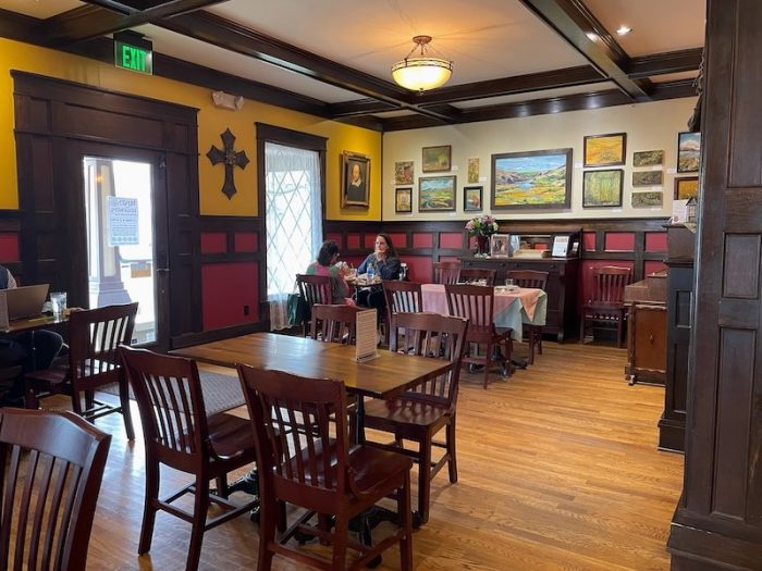 interior at afternoon tea at The Celtic Cup in Tullahoma, Tennessee