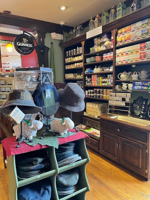 gift shop at afternoon tea at The Celtic Cup in Tullahoma, Tennessee