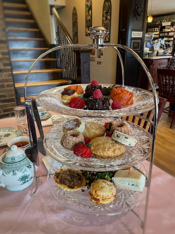 3-tiered tray at afternoon tea at The Celtic Cup in Tullahoma, Tennessee