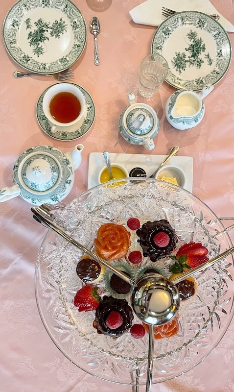 tea from above at afternoon tea at The Celtic Cup in Tullahoma, Tennessee