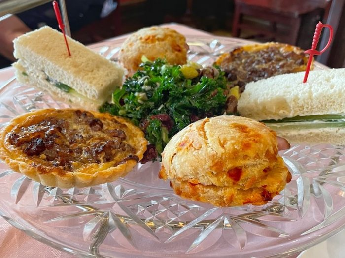savories at afternoon tea at The Celtic Cup in Tullahoma, Tennessee