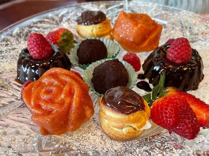 desserts at afternoon tea at The Celtic Cup in Tullahoma, Tennessee