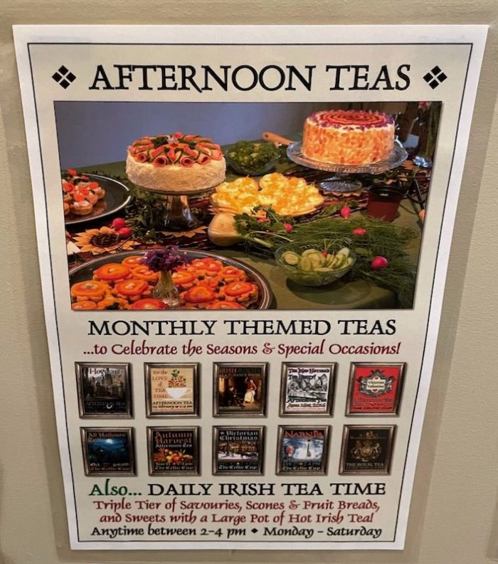monthly themed afternoon teas at The Celtic Cup in Tullahoma, Tennessee