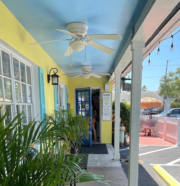 walking into afternoon tea at Belleair Cafe in Belleair Bluffs, Florida