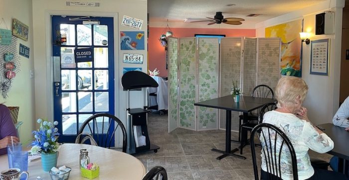 interior at afternoon tea at Belleair Cafe in Belleair Bluffs, Florida