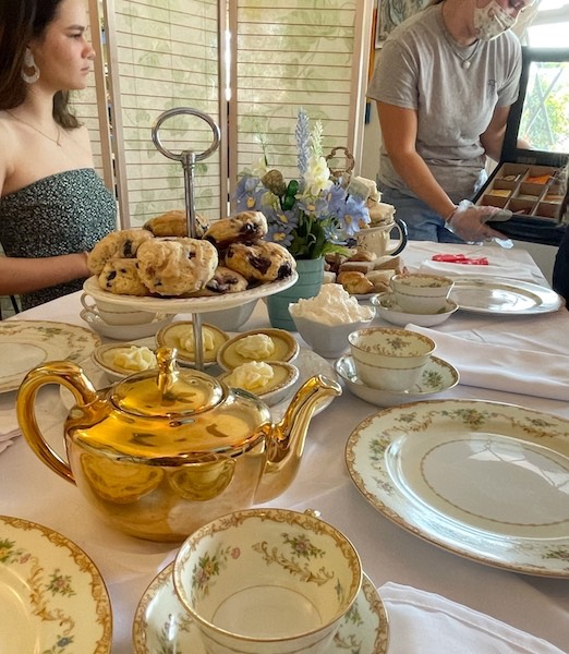 tea selection at afternoon tea at Belleair Cafe in Belleair Bluffs, Florida
