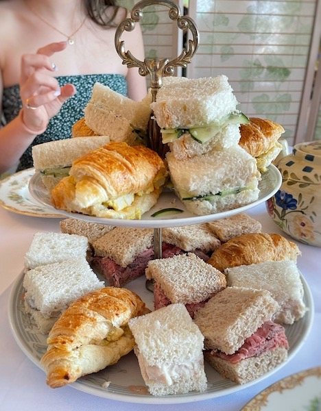 square tea sandwiches at afternoon tea at Belleair Cafe in Belleair Bluffs, Florida