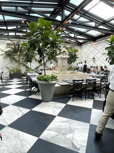 conservatory for afternoon tea at Oxford Exchange in Tampa, FL