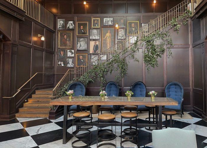 atrium at afternoon tea at Oxford Exchange in Tampa, FL