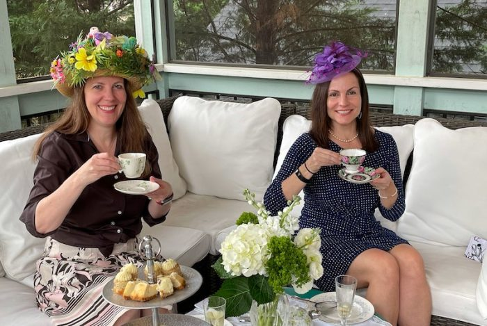 good friends at a springtime afternoon tea