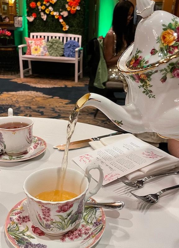 beautiful china at afternoon tea at The Ritz-Carlton Atlanta
