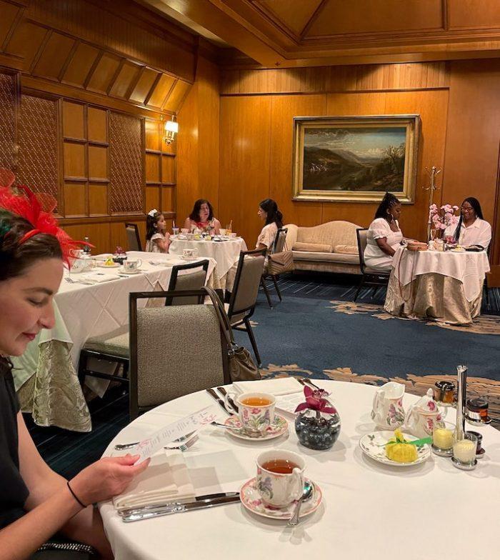 friends at afternoon tea at The Ritz-Carlton Atlanta