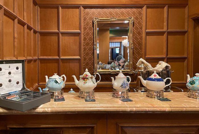 teapots at afternoon tea at The Ritz-Carlton Atlanta