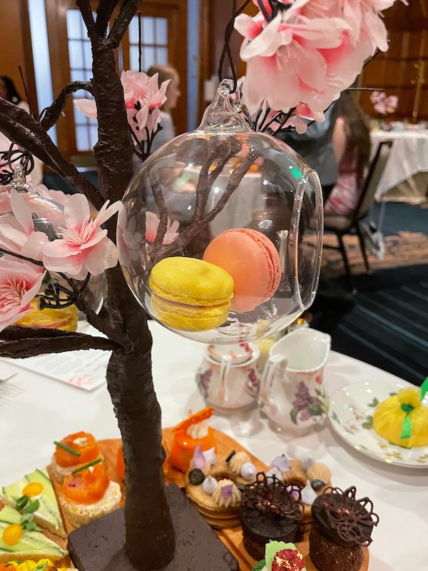 macarons in a nest at afternoon tea at The Ritz-Carlton Atlanta