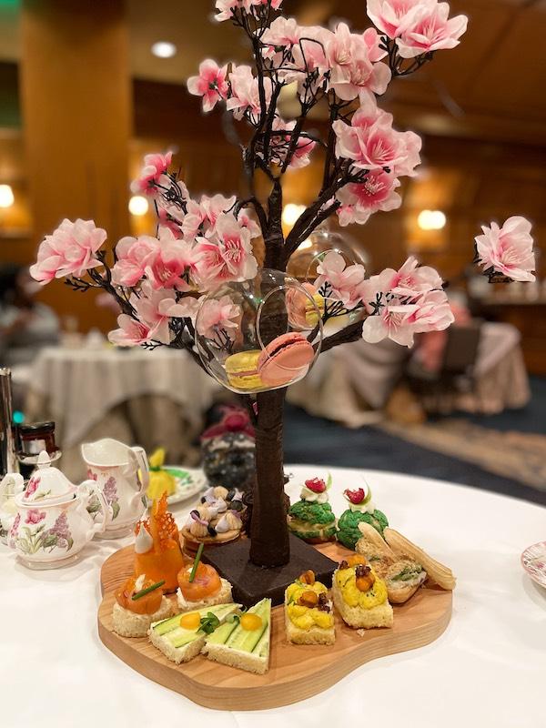 cherry tree at afternoon tea at The Ritz-Carlton Atlanta