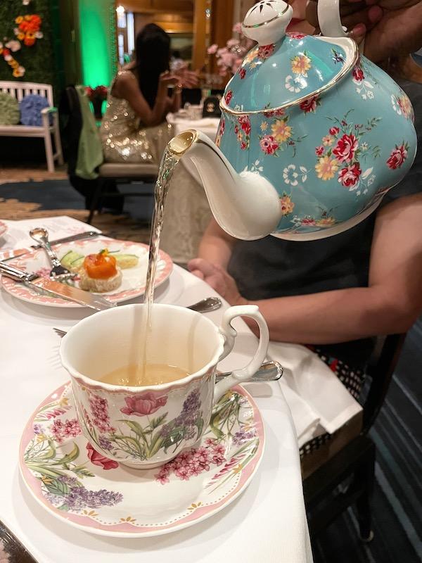 tea pouring at afternoon tea at The Ritz-Carlton Atlanta